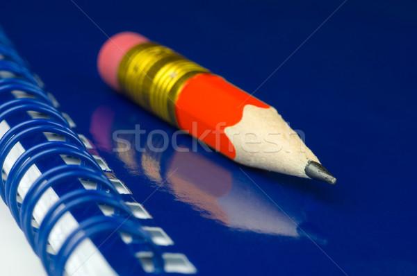 Krótki farbują niebieski notatnika Zdjęcia stock © pixpack