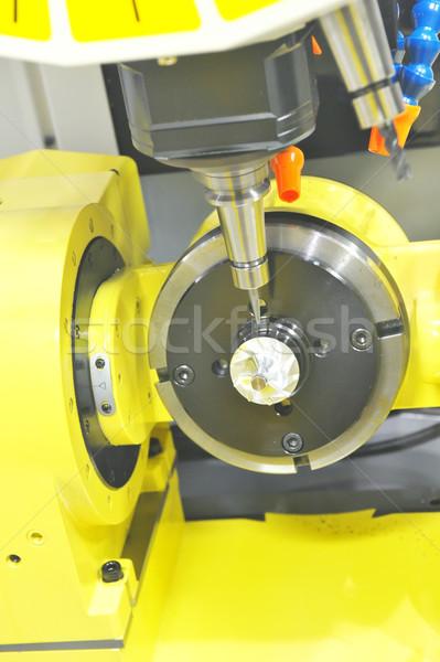 Metaal industriële machine staal machines productie Stockfoto © pixpack