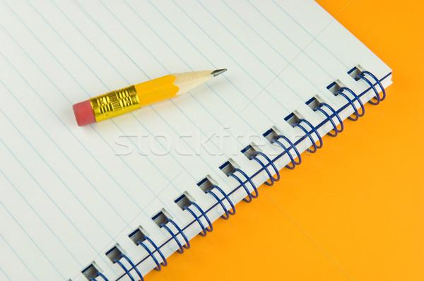 Krótki żółty farbują notatnika Zdjęcia stock © pixpack