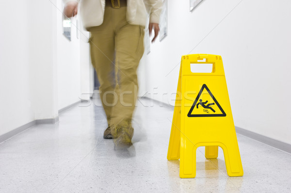 Stock photo: Slip hazard