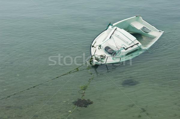 Wrecked ship on a sandbank Stock photo © pixpack