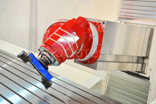Metal przemysłowych maszyny srebrny maszyn produkcji Zdjęcia stock © pixpack