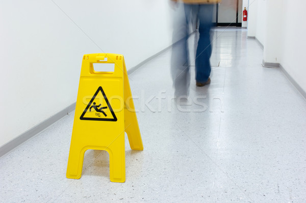 Warning sign for slippery floor Stock photo © pixpack