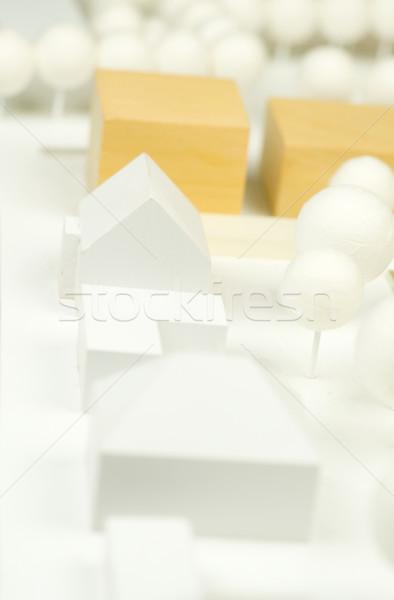 Architektury model budowy projektu domów plan Zdjęcia stock © pixpack