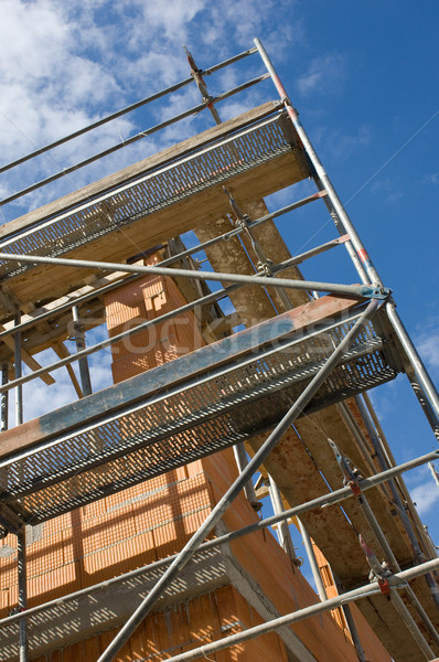 Scaffolding on a construction site Stock photo © pixpack