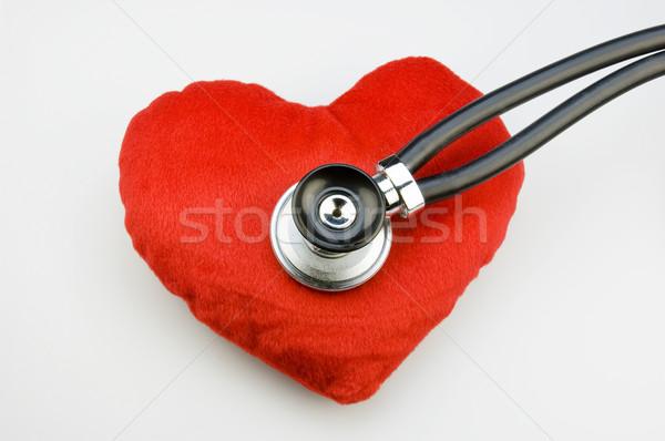 聴診器 赤 ファブリック 中心 医師 ストックフォト © pixpack