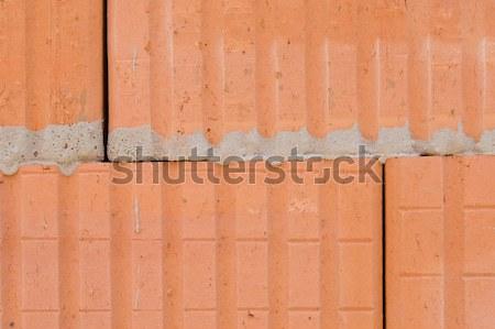 üreges tégla kőművesmunka Stock fotó © pixpack