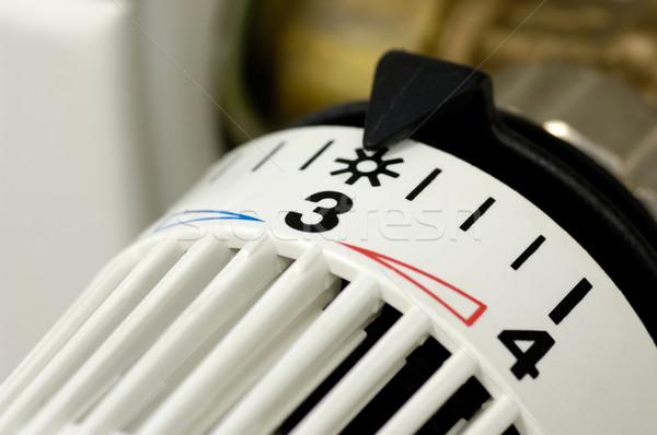 Chauffage réglementation mesure contrôle chaleur chaud Photo stock © pixpack