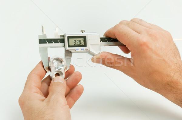 Handling of a caliper Stock photo © pixpack