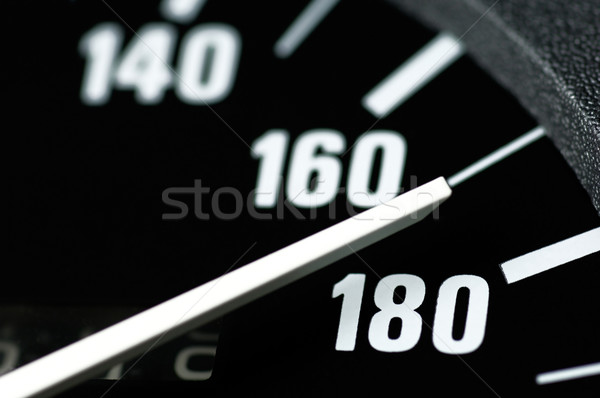 Hızölçer siyah beyaz hızlı yarış sürücü Stok fotoğraf © pixpack