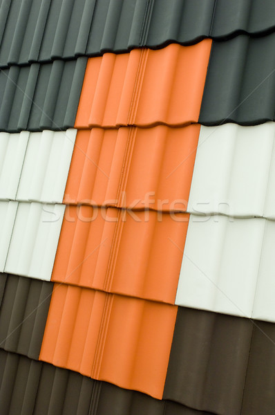 Couleur toit tuiles Photo stock © pixpack
