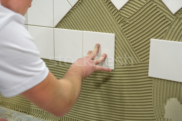 Wall tile glue Stock photo © pixpack