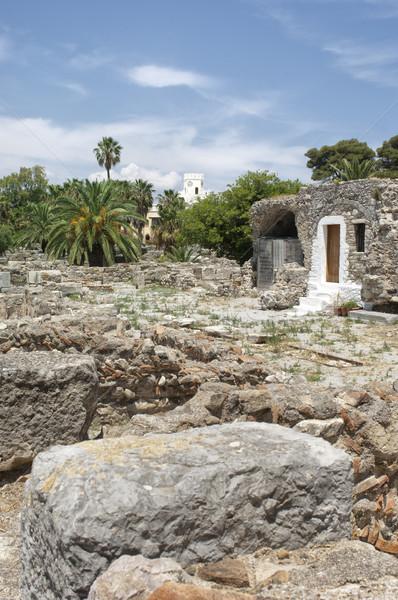 Miasta Grecja kamień starożytnych kolumny Zdjęcia stock © pixpack