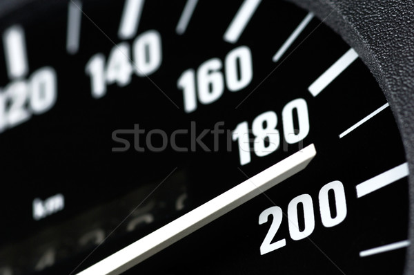 Stock photo: Speedometer of a car