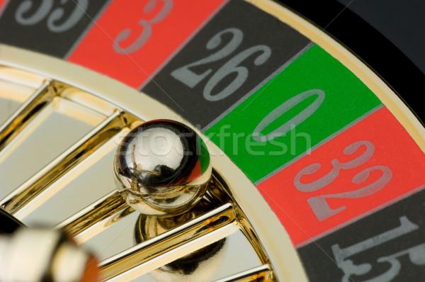 Roulette balle zéro vert rouge Photo stock © pixpack