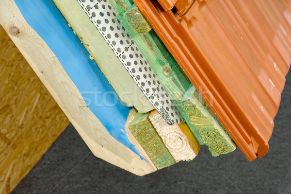 Thermal insulation of a house roof Stock photo © pixpack