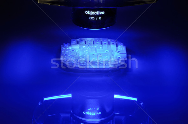 Stockfoto: Visie · werk · Blauw · circuit · maatregel