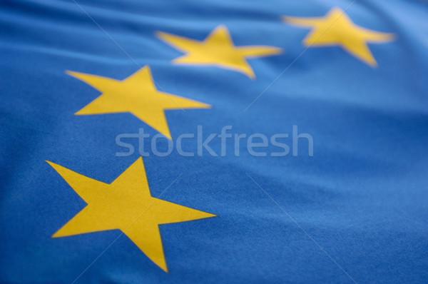 европейский флаг синий желтый флагами вместе Сток-фото © pixpack