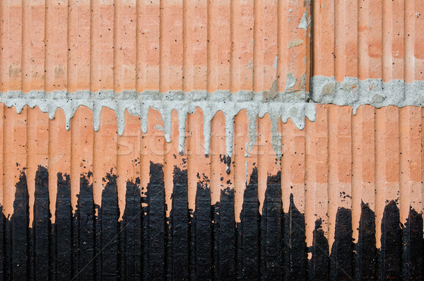 Oco tijolo alvenaria Foto stock © pixpack