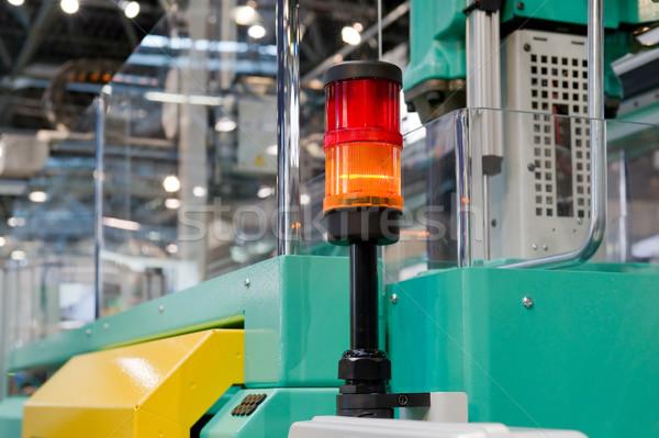 Warning light on a processing machine Stock photo © pixpack