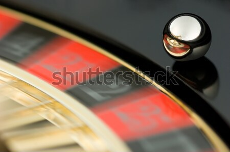 Rulett tányér piros fekete játszik Stock fotó © pixpack