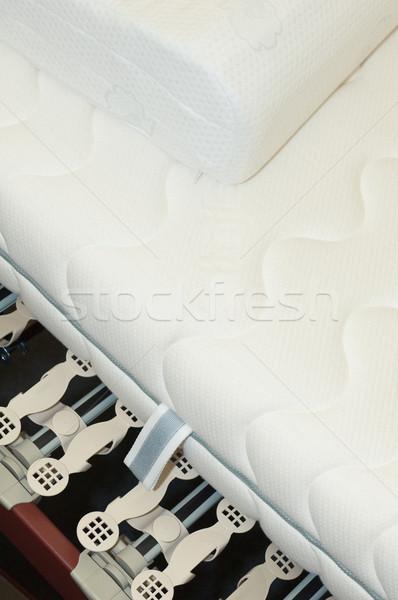 Keret matrac ágy fájdalom hálószoba Stock fotó © pixpack