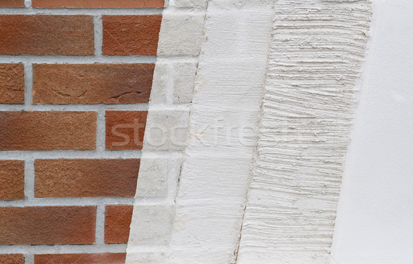 Layers of wall plastering Stock photo © pixpack