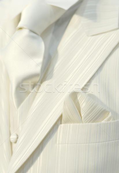 White wedding suit Stock photo © pixpack