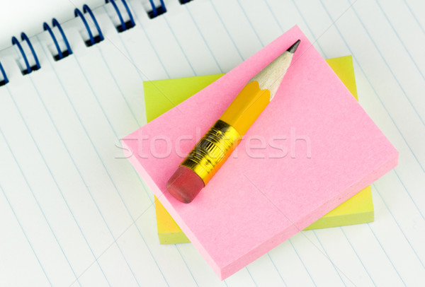 Short pencil on notepads Stock photo © pixpack