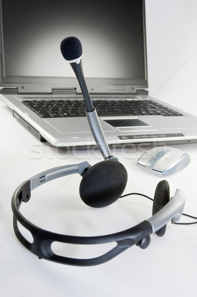 Headset with Laptop Stock photo © pixpack