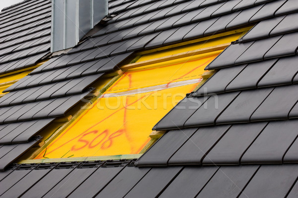 ストックフォト: 屋根 · 光 · 建物 · ウィンドウ · 黒
