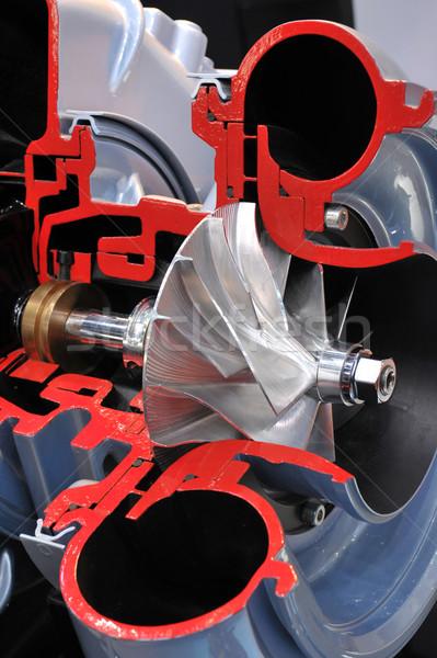 Zsakett modell motor mérnöki erős Stock fotó © pixpack