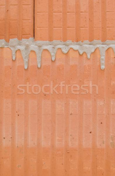 üreges tégla kőművesmunka épület Stock fotó © pixpack