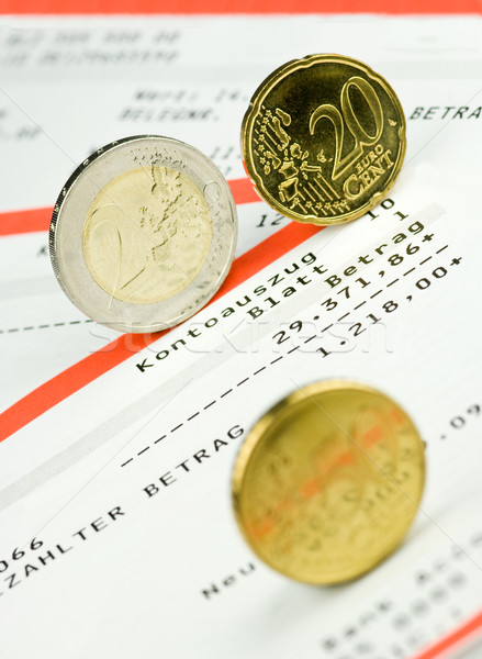 Euro coins on a bank account Stock photo © pixpack