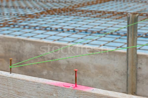 Bouwplaats vloer staal beton roze ijzer Stockfoto © pixpack