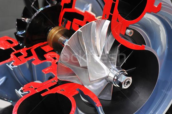 Zsakett modell kék motor mérnöki erős Stock fotó © pixpack