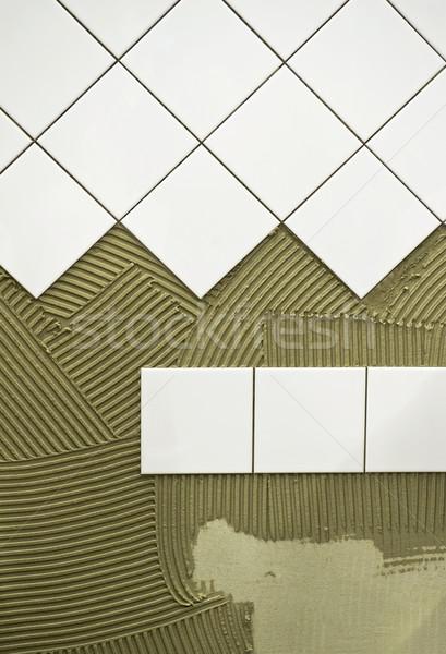 Muro piastrelle colla costruzione design pietra Foto d'archivio © pixpack