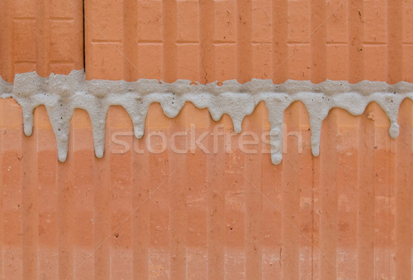 полый кирпичных кирпичная кладка здании Сток-фото © pixpack