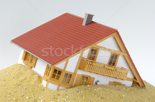 Mode house, built on sand Stock photo © pixpack