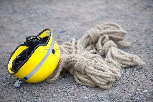 ヘルメット 安全 ロープ 青 ヘルプ ストックフォト © pixpack