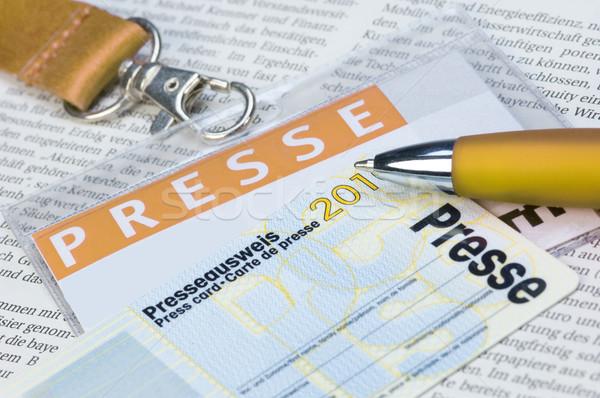 Druk kaart krant schrijven bericht journalist Stockfoto © pixpack
