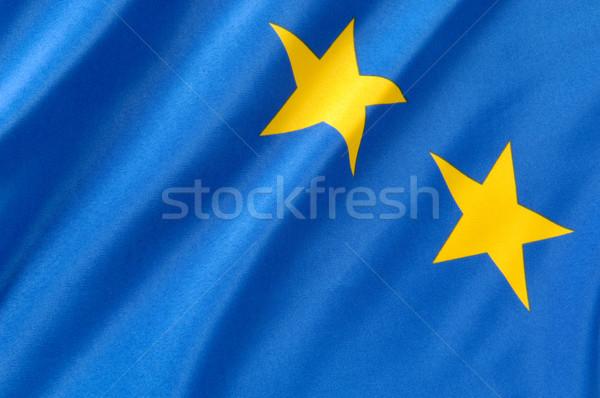 европейский флаг синий желтый флагами Сток-фото © pixpack