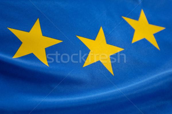 европейский флаг синий флагами Сток-фото © pixpack