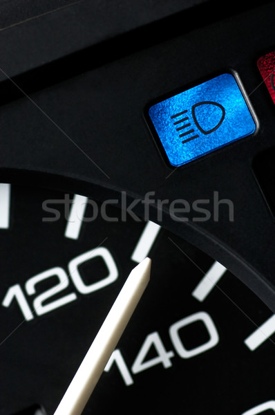 Speedometer an beam light control lamp Stock photo © pixpack