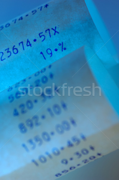 Paper strips of a calculator Stock photo © pixpack