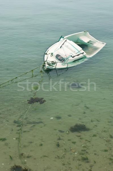 Naufrágio mar areia barco afundar cordão Foto stock © pixpack