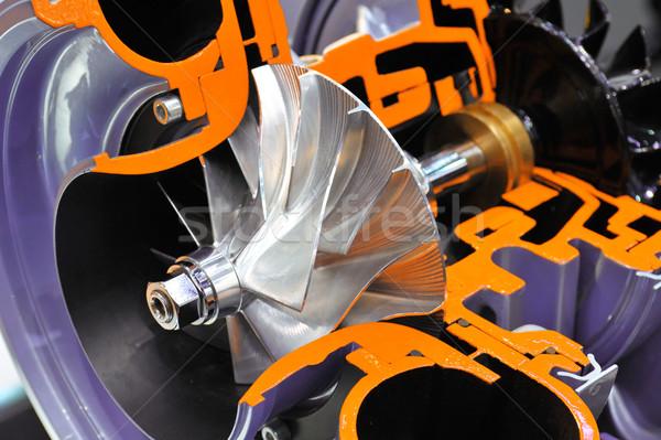 Zsakett modell gép motor mérnöki erős Stock fotó © pixpack