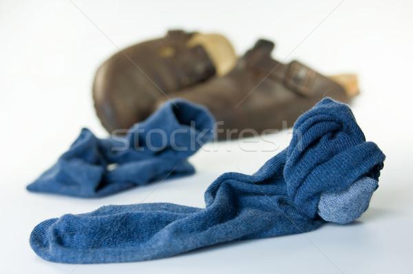 古い 汚い 靴下 サンダル 階 ストックフォト © pixpack