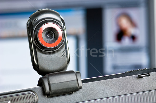 Webcam on a computer screen Stock photo © pixpack