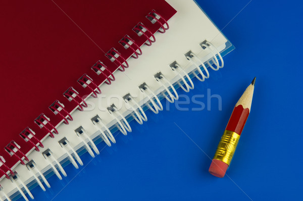 Short red pencil and notepads Stock photo © pixpack
